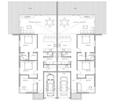 house design semi-detached-house-plan-ch120d 5