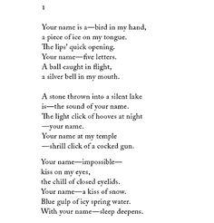 """Marina Tsvetaeva, """"Poems for Blok"""""""