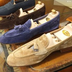 abitofcolor — Buttery soft suede tassel loafers from Edward...