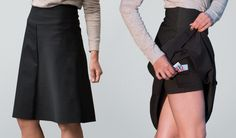 Betabrand $88 work-it skort Classy office-appropriate skirt with secret pockets that's actually a skort!