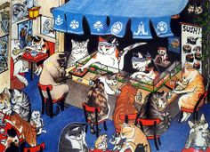 Sushi Cats by Melody Pena