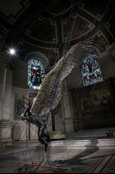 Lucifer (Morningstar) at the Holy Trinity Church in Marylebone, Westminster - Paul Fryer, 1998