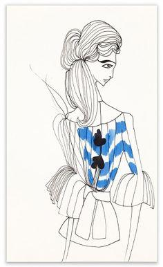 LOVE tanya ling's fashion illustrations.