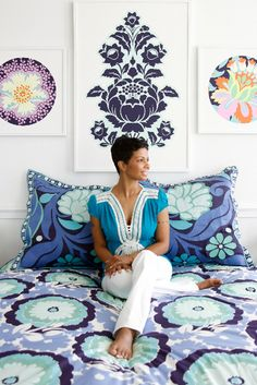 Amy Butler bedding- Hey look! Its my door bedding on Pinterest!