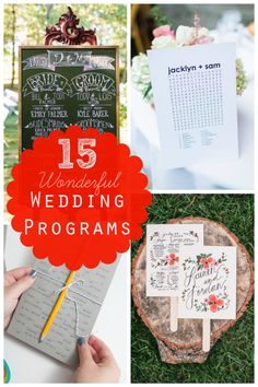 15 Wonderful Wedding Programs