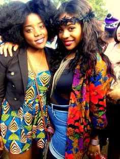 jennbytheway:    blackfashion:    Howard University Homecoming 2011    Heyy thats me and Maya! I dont even know who posted this lol
