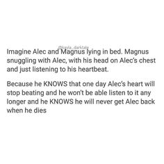 [Open for more] • • • No I'm fine, I did not need my heart anyways • • @harryshumjr @matthewdaddario [Image from Tumblr] • • ily: i love you. ilysm: i love you so much . ikyfwifa: i know you feel what i feel alec . wtgcdpma: when things get crazy don't push me away . idchmpybw, idchmpyhbw: i don't care how many people you'vebeen with, i don't care how many people you haven't been with . ilym, ilyt: i love you magnus, i love you too . iamt: i am malec trash