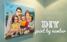 This tutorial teaches you how to make a DIY paint by number version of any photo!