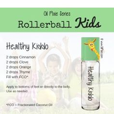 Healthy kid, Rollerball blends for kids, essential oils