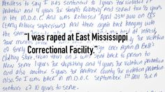 I Was Raped at East Mississippi Correctional Facility | American Civil Liberties Union