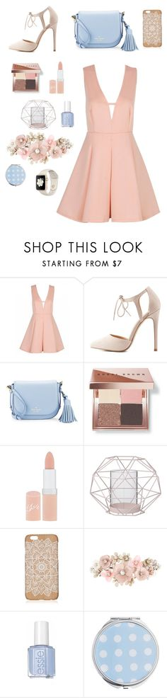 """peachy 💗"" by allyjalbuerne ❤ liked on Polyvore featuring Charlotte Russe, Kate Spade, Bobbi Brown Cosmetics, Rimmel, Bloomingville, Accessorize and Miss Selfridge"