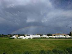 A rainbow over campus last Friday. #rainbow