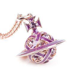 Vivienne Westwood Bloomsbury pendant (rose gold/plum/amethyst) - Vivienne Westwood from Bijouled UK. Vivienne Westwood Jewellery, Sparkly Jewelry, Bloomsbury, Girls Best Friend, Charm Jewelry, Plum, High Fashion, Charms, Amethyst