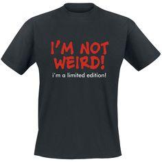 Not weird Limited edition T-shirt  - SwedenRockShop