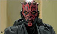 Encore un méchant du côté obscure dark maule avec son double sabre rouge et sa peau rouge et noire il nest pas tres attachant...