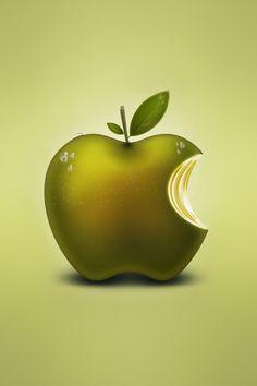 Computer Brand HD Apple Fruit Logo Green Wallpaper for iPad 4 Apple Logo Wallpaper Iphone, Mac Wallpaper, Green Wallpaper, Apple Wallpaper, Computer Wallpaper, Cellphone Wallpaper, Iphone 8, Apple Iphone, Fruit Logo