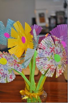 spring crafts for kids | Spring Craft for Kids: Paper Flower Bouquet