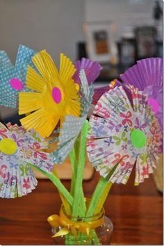 spring crafts for kids | Spring Craft for Kids: Paper Flower Bouquet