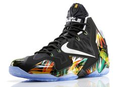 "Check out the unique colorway for the Nike LeBron 11 ""Everglades"" shoe created in honor of the tropical wetlands in the state of Florida."