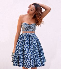 Wax / midi skirt / African print