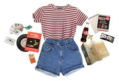 """""""vinyl"""" by black-and-white-hipster ❤ liked on Polyvore featuring Chronicle Books, CASSETTE, lazy, grunge, 90s and StrangerThings"""
