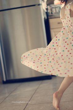 Zwaaien met een wijd jurkje...Voor àlle meisjes ;-)