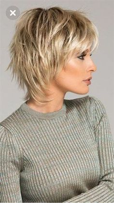 Short Hairstyles Over 50, Short Shag Hairstyles, Popular Short Hairstyles, Short Hair Over 50, Choppy Haircuts, Hairstyles Men, Layered Haircuts, Formal Hairstyles, Hair Styles For Women Over 50