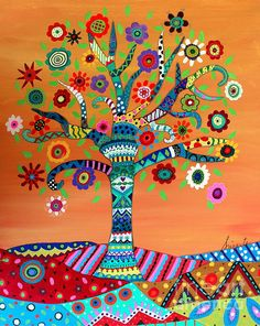 mhuri, tree, tree of life, beatriz' tree, african tree, afrikaan tree of life, afrikaan, flowers, florals, blooms, kickstarter, prisarts, pristine tree, vibrant tree, special tree, abstract, prisarts painting, pinay, philippine art, filipino artist, Philippines