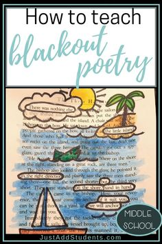 Here's a step-by-step lesson plan on how to teach blackout poetry. Your students will love it -- it's a great way to complete a poetry or creative writing unit. Students will use higher level thinking to create theme, imagery, and vivid word choice. #poetry #blackoutpoetry #lessonplan