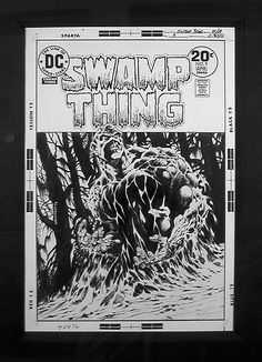 The original art for Swamp Thing 9 by Wrightson