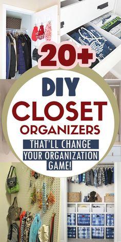 Closet Organization, Organization Ideas, Organization Station, Cheap Closet Organizers, Closet Hacks, Organizing Tips, Storage Ideas, Dollar Stores, Diy