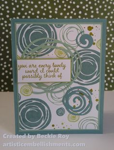 Artistic Embellishments: Coming Soon: Swirly Bird, Swirly Scribbles & Affectionately Yours