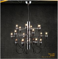 2016 new Creative personality modern minimalist living room chandelier dining room chandelier wrought iron plating led lamps Z30