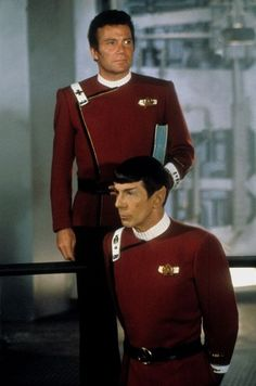 Kirk and Spock in The Wrath of Khan (Star Trek II,1982)