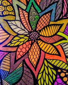 ColorIt Traveling Doodles Colorist: Mary Richmond #adultcoloring #coloringforadults #adultcoloringpages #doodle