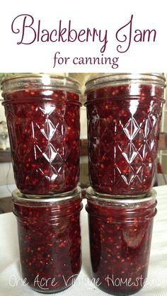 Blackberry Jam for Canning