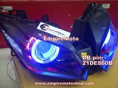 Proyektor Demon Eyes+Headlamp Ninja 250 FI