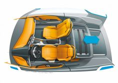 Audi Crosslane Coupe Concept - Interior Design Sketch / Follow my MOTO sketches board!