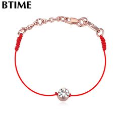 Charm Bracelets women red thread string rope jewelry gift thin Fashion New sale Top Hot summer style Crystal From Swarovski