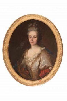 Ecole française du XVIIIe siècle. Portrait de femme