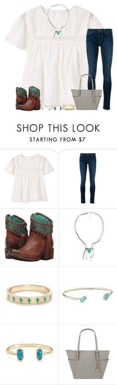 """"" by taylormaccallister ❤ liked on Polyvore featuring MANGO, Levi's, Corral, BKE, Kate Spade, Kendra Scott and MICHAEL Michael Kors"