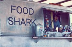 Do you think we could get this guy over? Have a food van out the front :)  Food Shark, Marfa, Texas