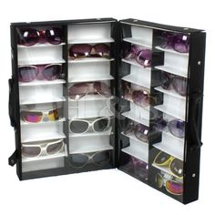 Gentil 32 Pairs Sunglasses Glasses Display Storage Box Stand Tray Travel Case Unit  Shop