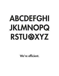Redefining the alphabet... VW style.
