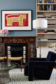 2014 Australian Interior Design Awards winners announced gallery - Vogue Living. minus the blue sofa Australian Interior Design, Interior Design Awards, Interior Decorating, Vogue Living, Interior Inspiration, Design Inspiration, Modern Victorian, Victorian Terrace, Marble Fireplaces