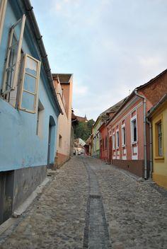 Streets of Sighisoara Romania Bulgaria, Romania, Street, Walkway
