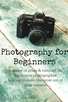 Photography for Beginners - a series of posts (starting on January 19th) to help you take better pictures!