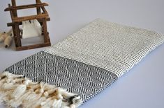 Chevron Pattern Turkish Towel Peshtemal towel in by DokumaAtelier