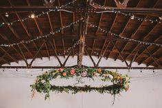 Overhanging Floral Hoop [florals by Lindsay Coletta]