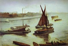 Whistler James Grey and Silver Battersea Beach 1863 - James McNeill Whistler - Wikimedia Commons